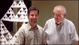 Harlan Brothers with Benoit Mandelbrot at the Yale Fractal Geometry Workshop